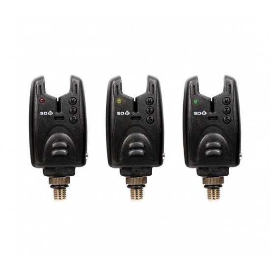 Комплект сигнализатори CarpMax SD1 Bite Alarm Set 3+1