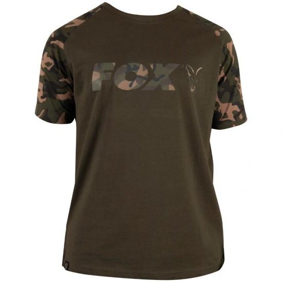 Fox Camo Khaki Chest Print T-Shirt Тениска