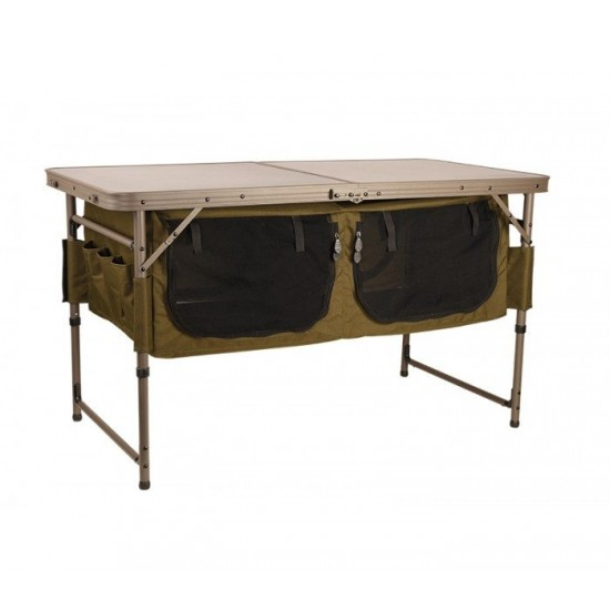 Къмпинг шкаф с маса Fox Session Table With Storage