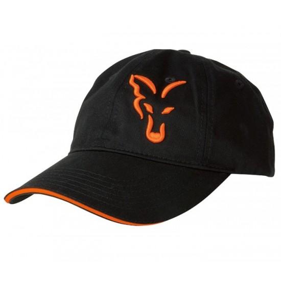Шапка Fox Black Orange Baseball Cap