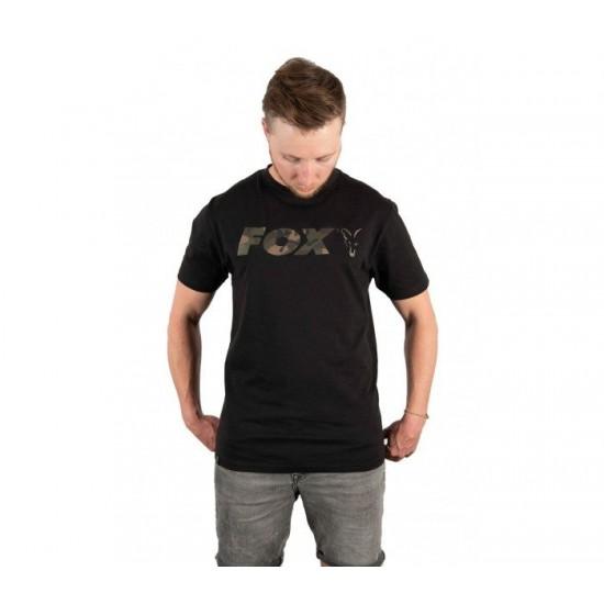 Fox Black Camo Chest Print T-Shirt Тениска