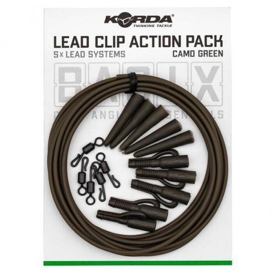 Korda Basix Lead Clip Action Pack Комплект монтажи