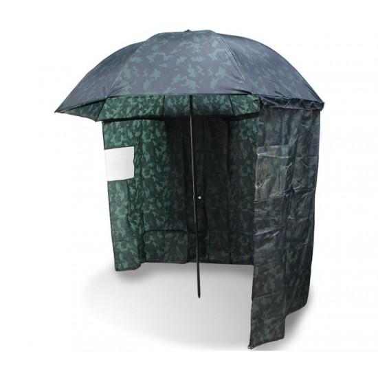 """Чадър с тента NGT 45"""" Camo Brolly Tent"""