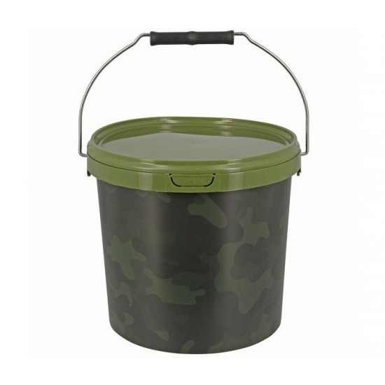 Рибарска кофа NGT Round Camo Bucket