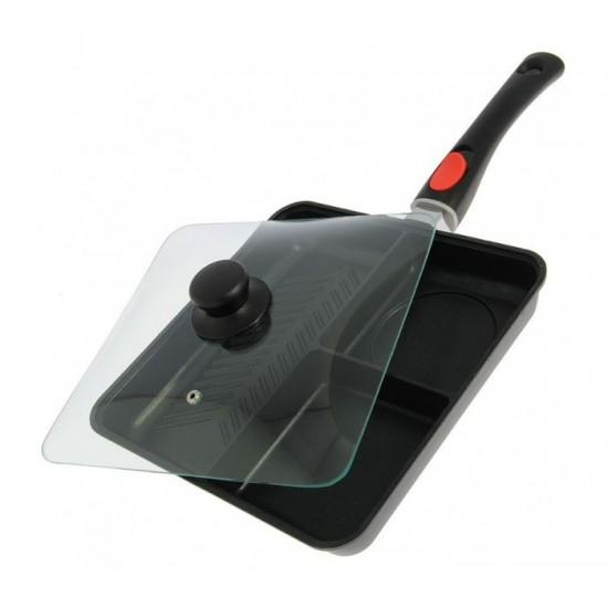 Тиган за готвене с капак NGT 3 Way Outdoor Frying Pan