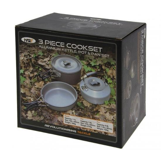 Комплект за гответе NGT 3pc Gun Metal Outdoor Cook Set