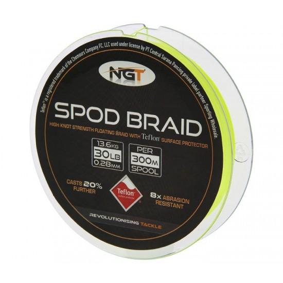 Влакно за спод NGT Spod Braid Fluoro Yellow Teflon Coated 300m