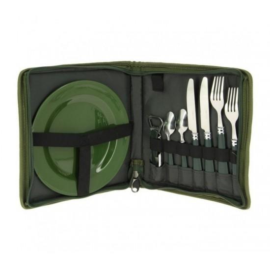 Къмпинг комплект за хранене NGT Cutlery Set